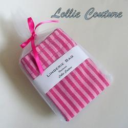 Lingerie Bag - Bridesmaid sets - Pink and hot pink - Travel Lingerie Bag